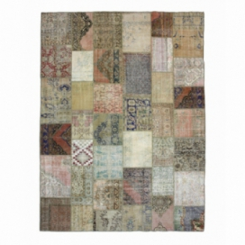 Vintage patchwork rug color natural (302x405cm)