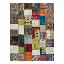 Vintage patchwork rug color various (303x408cm)