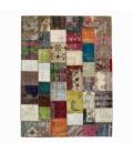 Vintage patchwork rug color various (303x408cm)