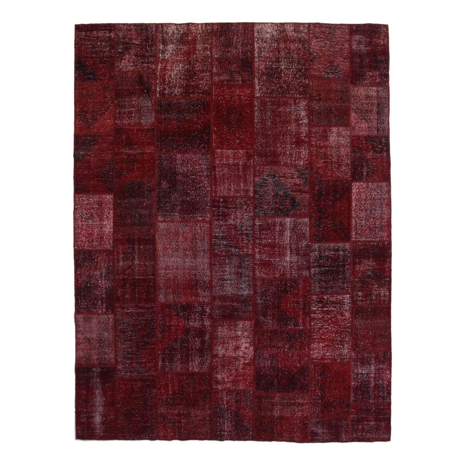 bordeaux rot vintage patchwork flicken teppich 304x406cm. Black Bedroom Furniture Sets. Home Design Ideas