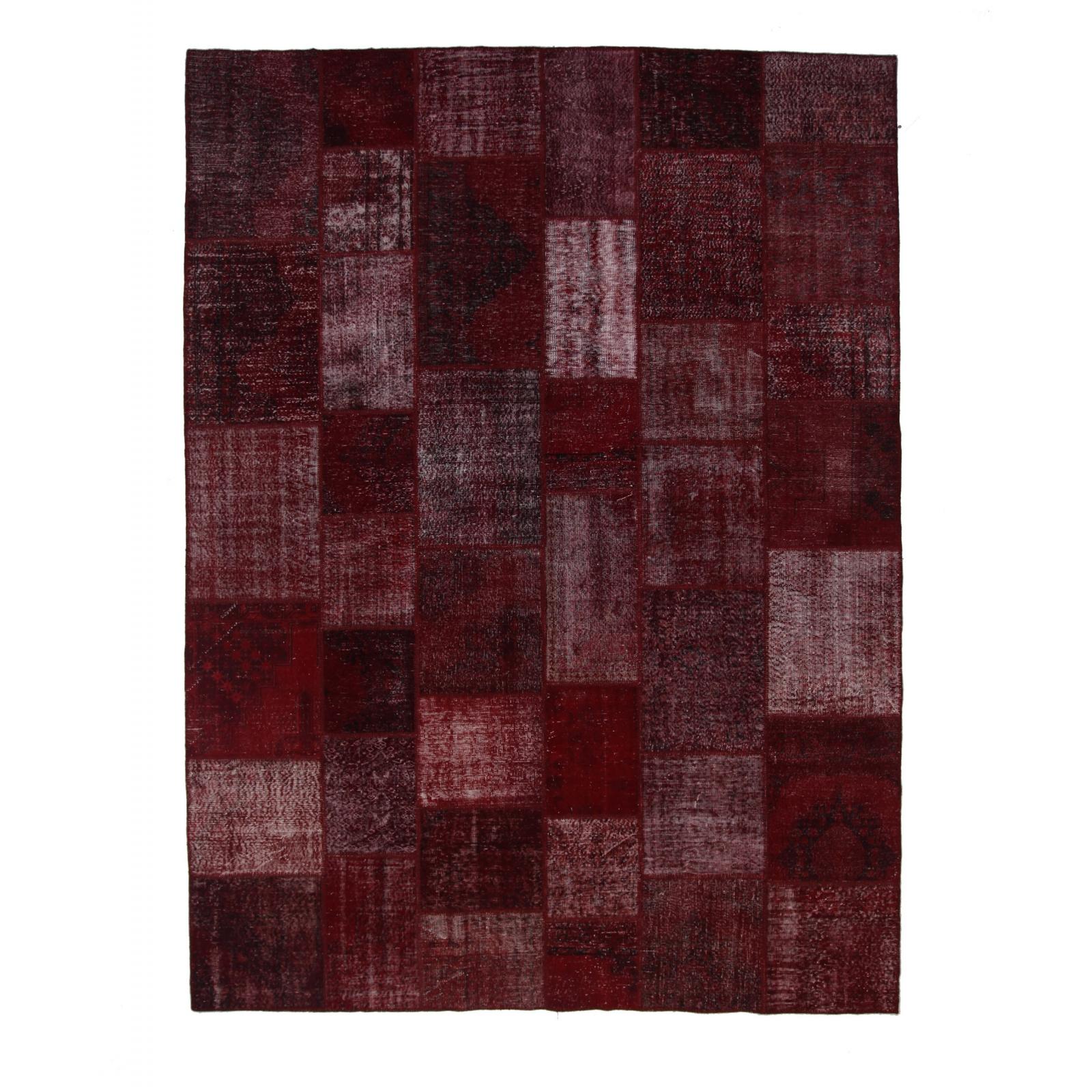 bordeaux rouge vintage tapis de patchwork 304x410cm. Black Bedroom Furniture Sets. Home Design Ideas