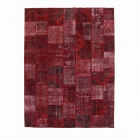 Vintage patchwork rug color red (305x405cm)