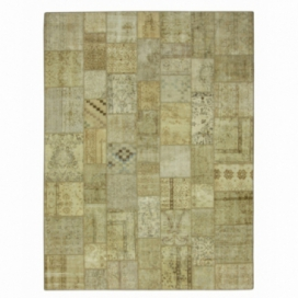 Vintage patchwork rug color natural (306x278cm)