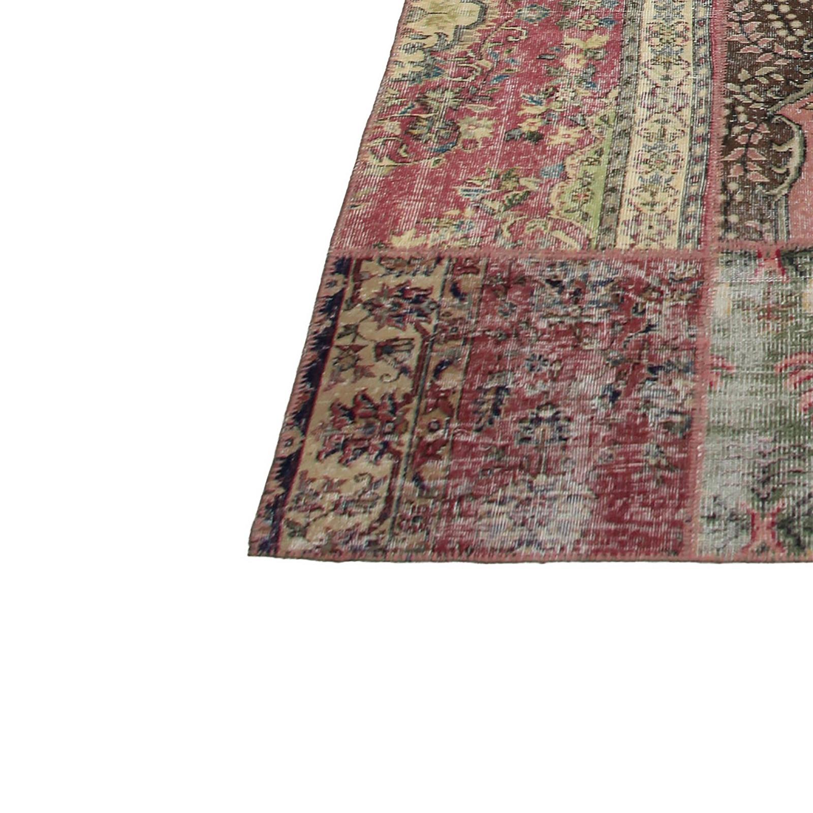 various vintage patchwork flicken teppich 306x410cm. Black Bedroom Furniture Sets. Home Design Ideas