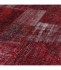 Vintage patchwork rug color red (307x405cm)