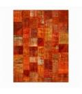 Vintage patchwork rug color orange (357x275cm)