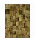 Vintage patchwork rug color authentic (362x278cm)