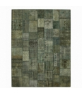 Vintage patchwork flicken teppich farbe blau (363x275cm)