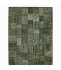 Vintage patchwork rug kleur blauw (363x275cm)