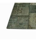 Vintage patchwork rug color blue (363x275cm)