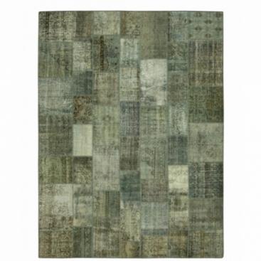 Vintage patchwork rug color grey (368x274cm)