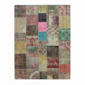 Vintage patchwork rug color various (368x275cm)