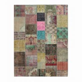 Vintage patchwork rug color various (368x275cm)