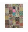 Vintage patchwork flicken teppich farbe various (368x275cm)
