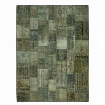 Vintage patchwork rug kleur grijs (368x275cm)