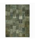 Vintage tapis de patchwork couleur gris (368x275cm)