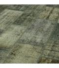 Vintage patchwork flicken teppich farbe grau (368x275cm)