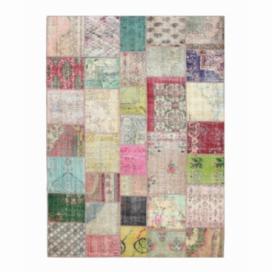 Vintage alfombra retazos color various (369x271cm)