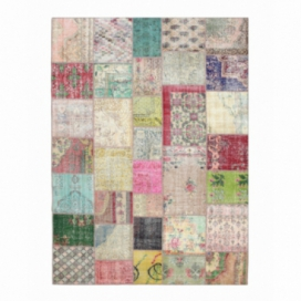 Vintage patchwork rug kleur various (369x271cm)