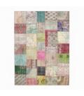 Vintage patchwork flicken teppich farbe various (369x271cm)