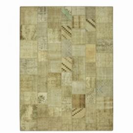 Vintage patchwork flicken teppich farbe natural (369x276cm)