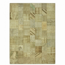 Vintage tapis de patchwork couleur natural (369x276cm)