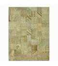 Vintage tapis de patchwork couleur natural (369x276cm)
