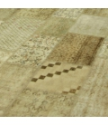 Vintage patchwork rug color natural (369x276cm)
