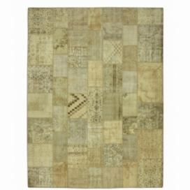 Vintage alfombra retazos color natural (369x278cm)
