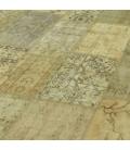Vintage tapis de patchwork couleur natural (369x278cm)