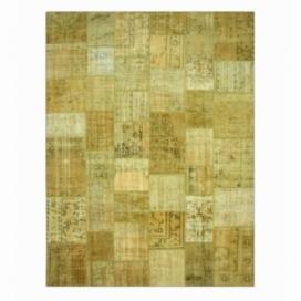 Vintage patchwork rug kleur natural (400x300cm)