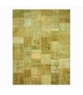 Vintage patchwork flicken teppich farbe natural (400x300cm)