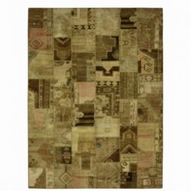 Vintage patchwork rug color authentic (400x300cm)