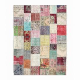 Vintage patchwork rug kleur various (401x302cm)