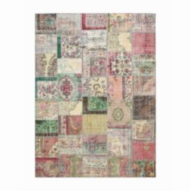 Vintage patchwork rug color various (402x293cm)