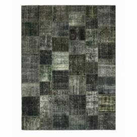 Vintage patchwork rug color dark grey (403x304cm)