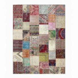 Vintage patchwork rug kleur various (403x305cm)
