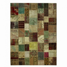 Vintage patchwork rug color various (404x300cm)