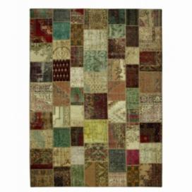 Vintage patchwork rug kleur various (404x300cm)