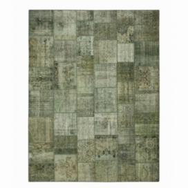 Vintage patchwork rug color grey (404x305cm)