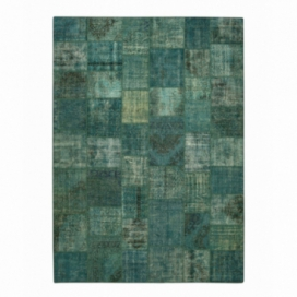 Vintage patchwork rug color turquoise (405x291cm)