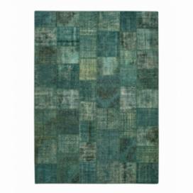 Vintage patchwork rug kleur turquoise (405x291cm)