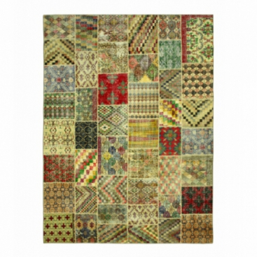Vintage patchwork rug kleur various (405x301cm)