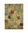 Vintage patchwork flicken teppich farbe various (405x301cm)