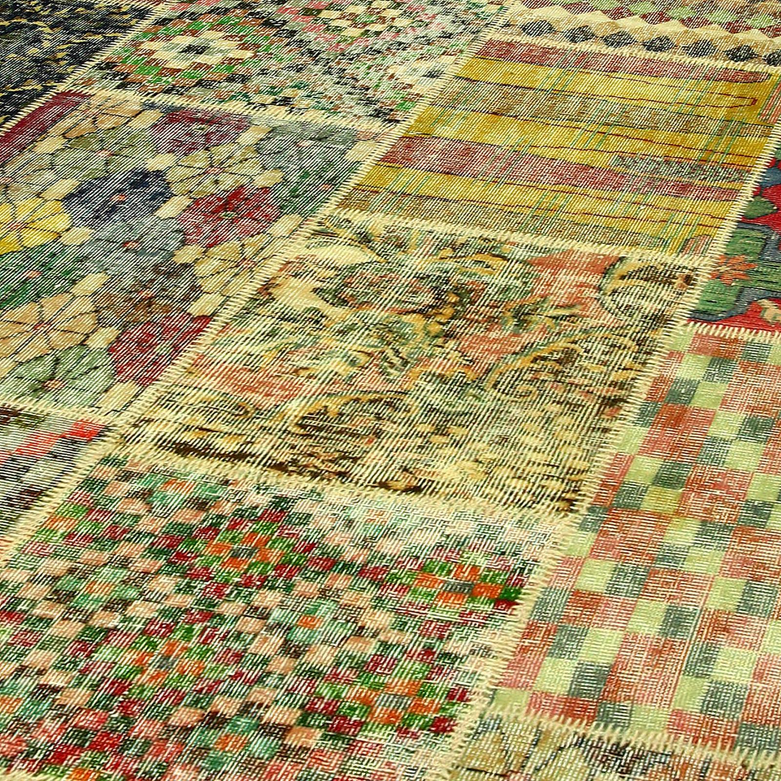 various vintage patchwork teppich 405x301cm. Black Bedroom Furniture Sets. Home Design Ideas