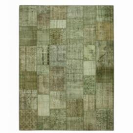 Vintage patchwork flicken teppich farbe natural (405x305cm)