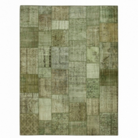 Vintage tapis de patchwork couleur natural (405x305cm)