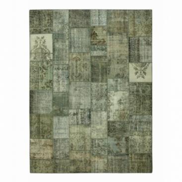 Vintage patchwork rug cor cinzento (405x305cm)