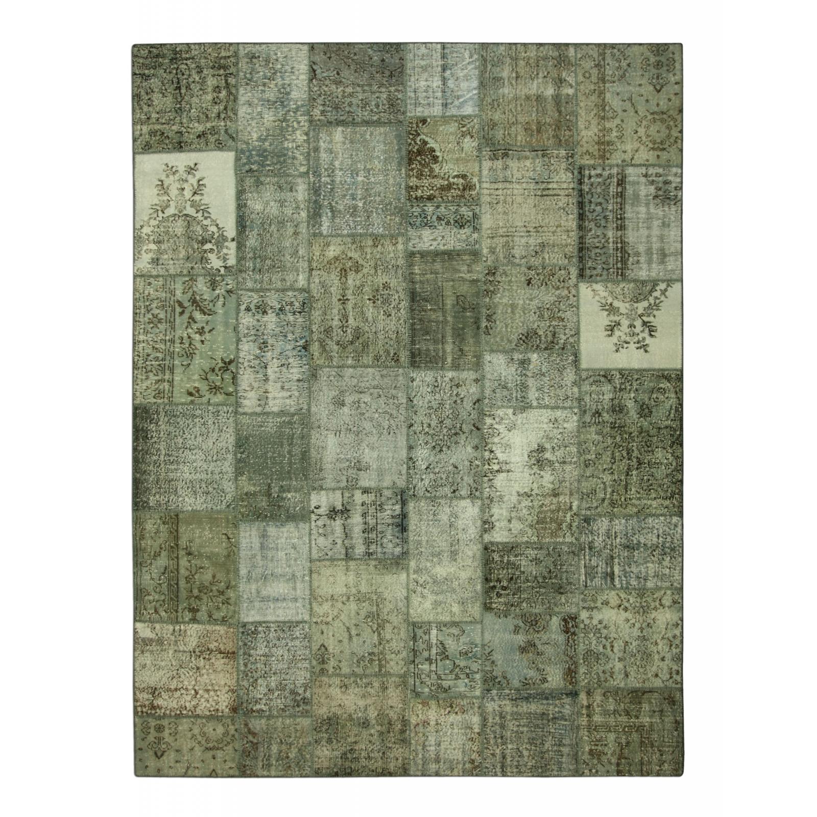 gris vintage tapis de patchwork 405x305cm. Black Bedroom Furniture Sets. Home Design Ideas