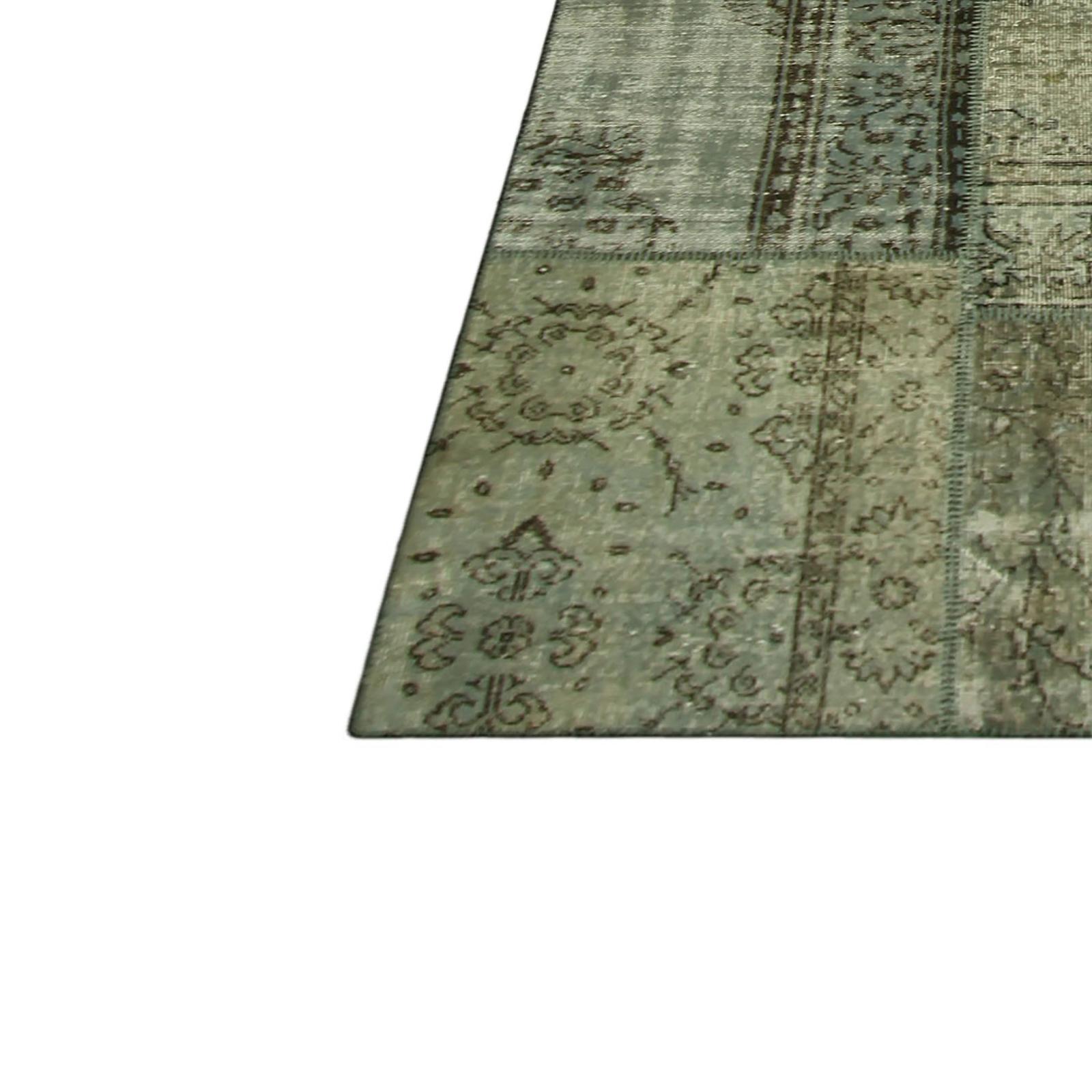 Gris vintage tapis de patchwork 405x305cm Tapis vintage patchwork